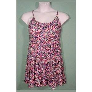dEliA*s  Backless Tiered Panel Floral Dress
